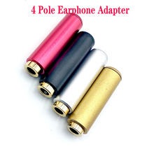 4pcs/lot Aluminum Jack 3.5 Audio female jack 3.5mm 4 pole Stereo socket Gold Plated Wire Connector Earphone DIY