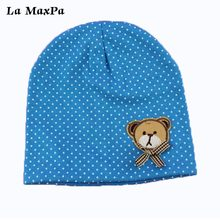 Baby Hat Cotton Bear Printing Caps For Boy Girl Infant Beanie Spring Autumn Winter Childrens Hats Star Heart Dot