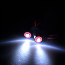5mm 2Leds red+white Angel & Demon Eyes LED Headlight Back Light for 1/10 rc Car Top Quality Free Shipping(China)