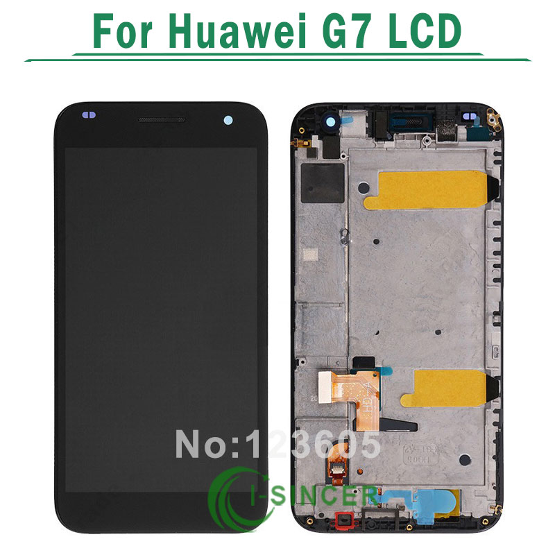 ФОТО For Huawei Ascend G7 Lcd display with Touch Glass Digitizer Assembly+black/white frame free shipping