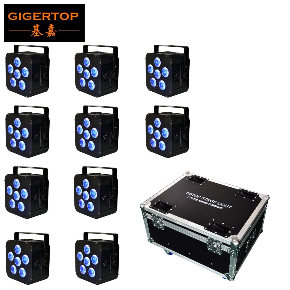 6*18w RGBWA UV Wireless Dmx Uplighting Battery Operate Wifi&IRC Remote Control DJ LED Par Can Wash Light Disco Wedding Uplights