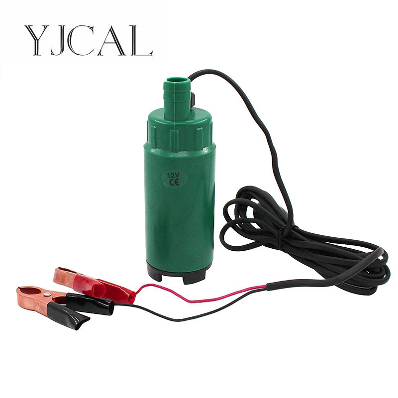 Submersible Pump Diameter 51MM DC 12V 24V Motor Suction Oil Water Disel Pump Plastic Shell Car Camping Portable With Switch 51mm dc 12v water oil diesel fuel transfer pump submersible pump scar camping fishing submersible switch stainless steel