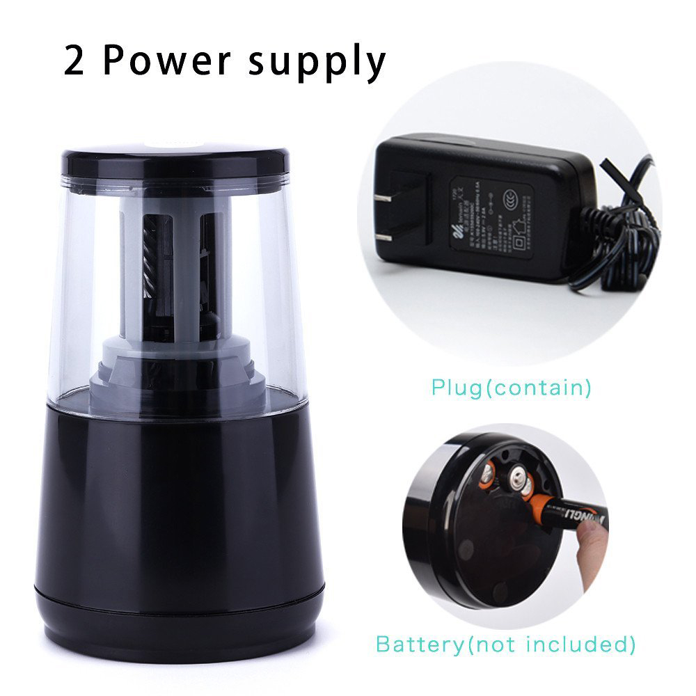 Electric Pencil Sharpener For Heavy-duty Helical Blades to Fast Sharpen 6-8mm USB or Battery Operated in School Classroom/Office
