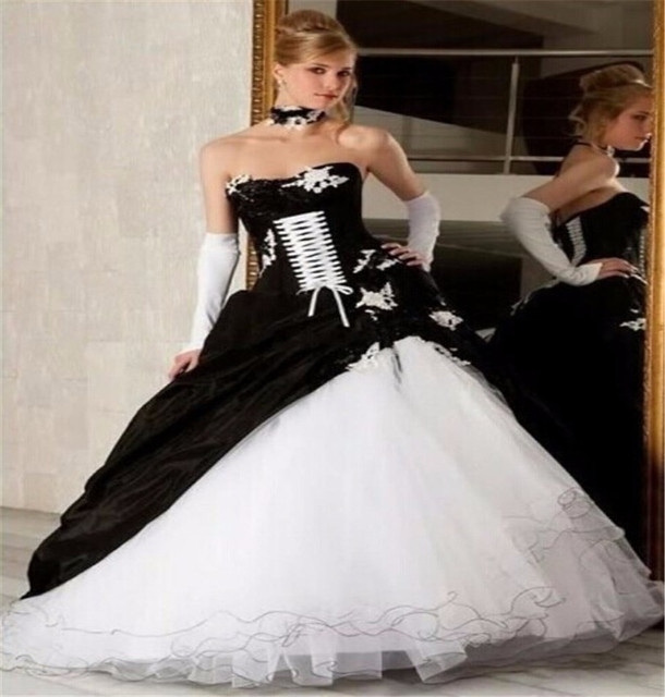 New Design Turkey Bridal Gowns Black Corset Ruffle Wedding Dress