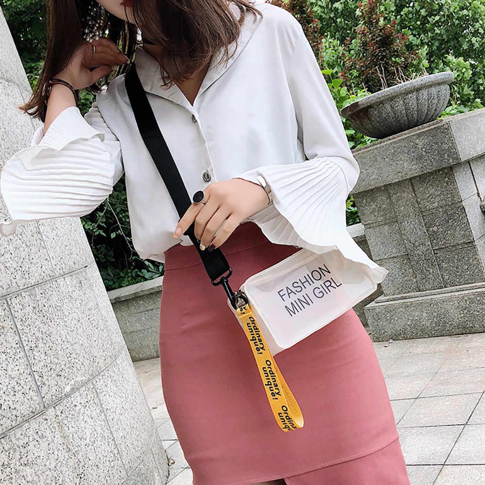 2019 Moda Geléia Transparente Casuais Diagonal Pequeno Saco Quadrado Grande Flap Bag 50 Partido Alça de Ombro Das Mulheres Do Vintage
