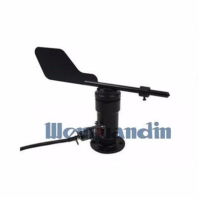 Wind Speed Sensor Anemometer Wind Direction Sensor Pulse Signal Output RS485 DC12-24V Measuring Range 0-360 Degrees
