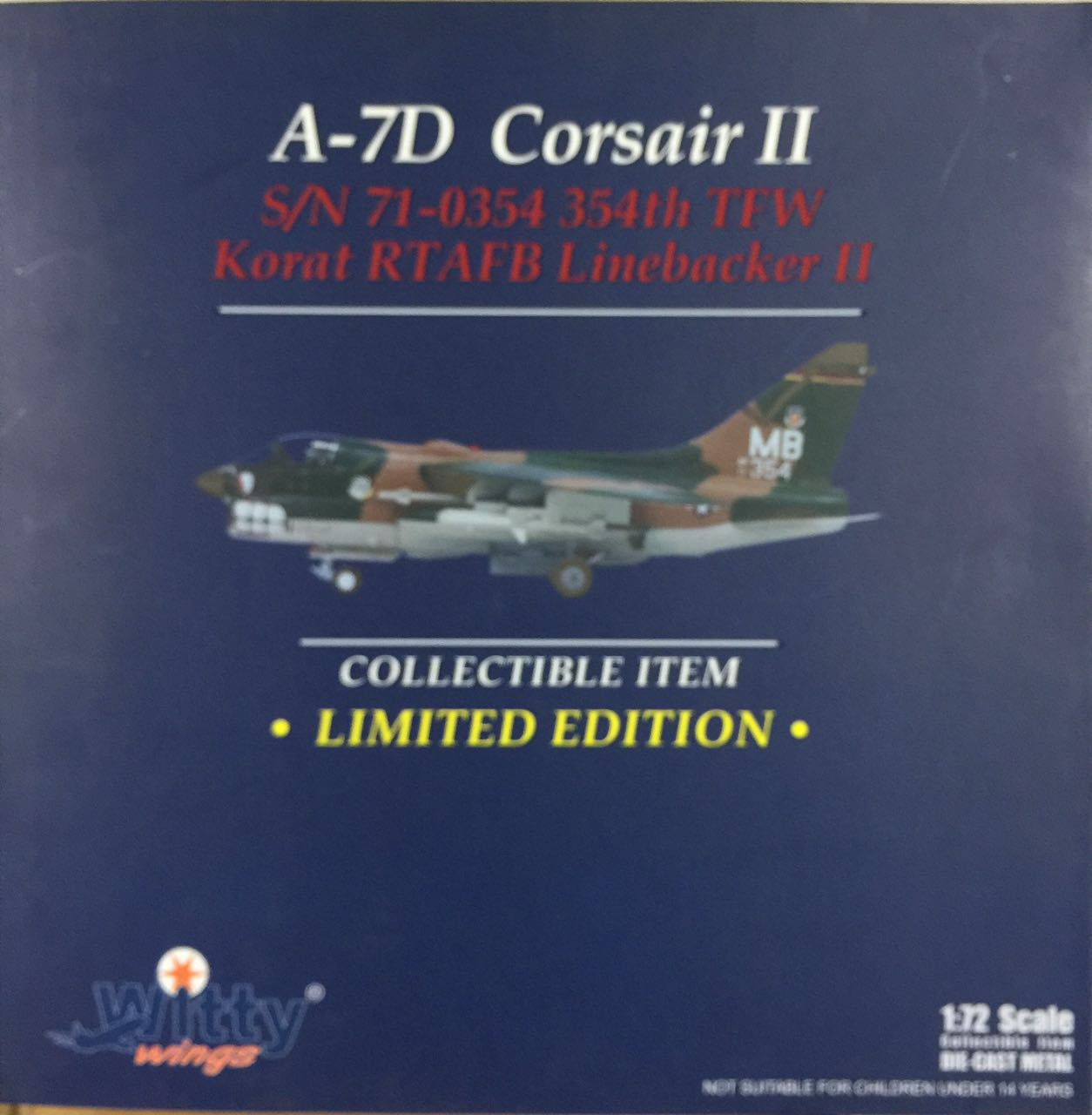 024-007 A-7D Witty Pirates of the U.S. Air Force 1:72 fighter Finished Model