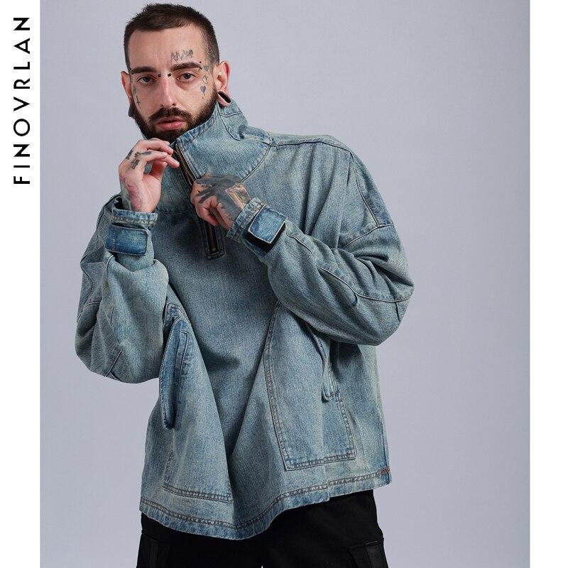 Мужские джинсы с капюшоном, толстовка с капюшоном в стиле хип хоп, 2018