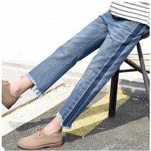 Весенне-осенние брюки для беременных женщин, джинсы для беременных, рваные джинсы, регулируемые брюшные Брюки для беременных женщин, длинные брюки-карандаш
