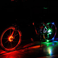 Bike Cycling Hubs Lights Front Rear Bicycle Light Spoke Decoration Warning LED Wheel Lamp Single Tire