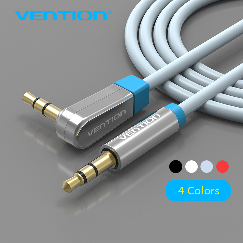 Vention 3.5mm Aux Cable Jack to Jack Gold Plated 90 Degree Right Angle Audio Cable for Car for iphone beats headphone