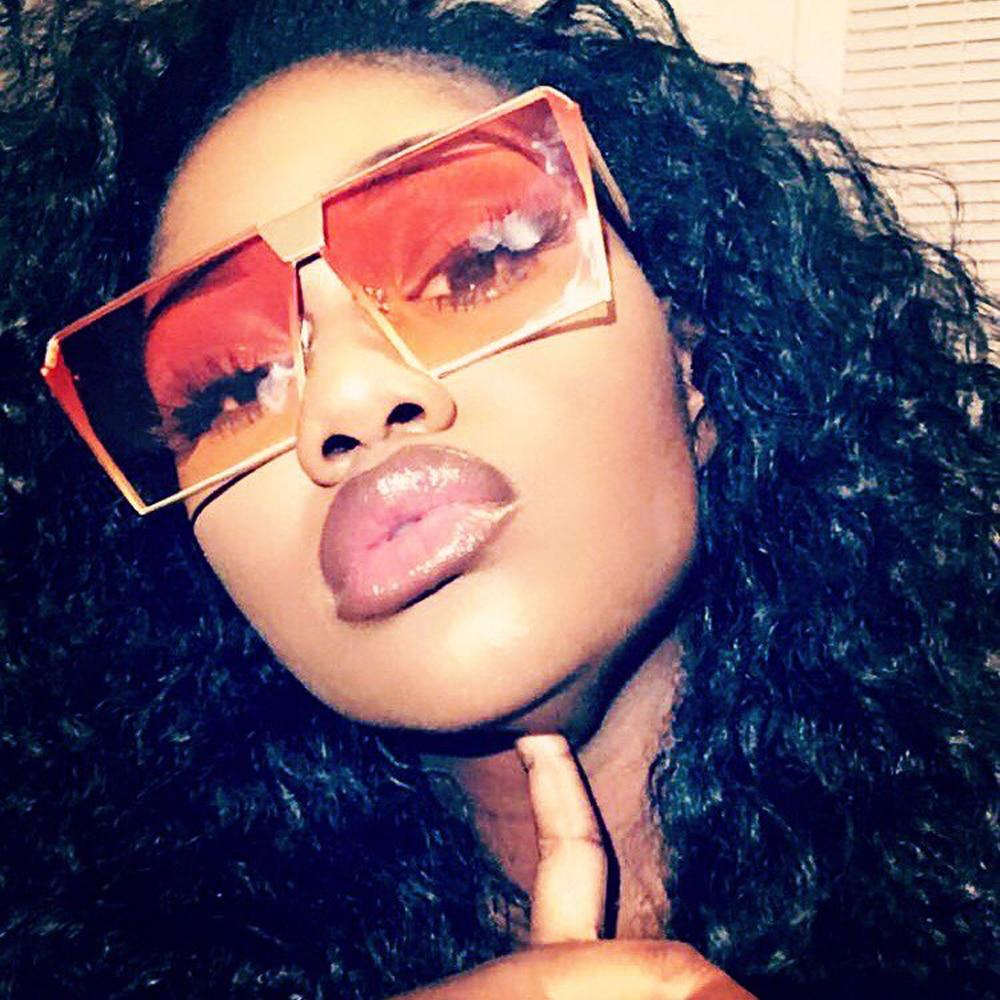 2018 New barnd Women Sunglasses Unique Oversize Shield UV400 Gradient Vintage eyeglasses frames for Women