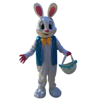 Sell Like Hot Cakes Professional Easter Bunny Mascot costume Bugs Rabbit Hare Adult Free shipping