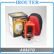 A8827D , better than AK455 , 3 Line 3 points red laser level ,360degree Self- leveling Cross Laser Level Red HOT SALE Tools