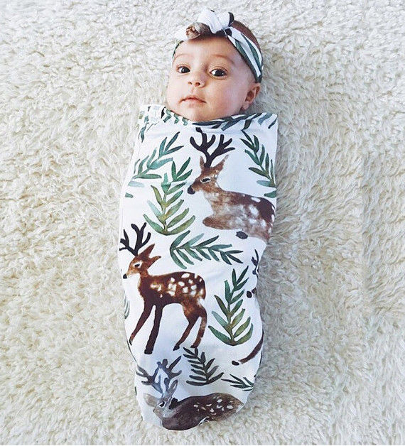 2Pcs-Newborn-Baby-Infant-Cotton-Swaddle-Blanket-Wrap-Sleeping-Bag-Headband-Sleepsack-0-12-1