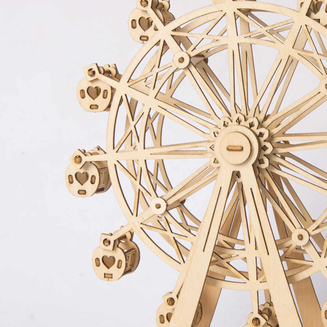 Ferris Wheel 3D Movement Assembled Wooden Painting Jointed Model Steam Stem Toys Learning Toy For Kid Christmas Gifts