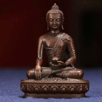 buddhism Buddhist pocket Travel Carry-on Accompanying talisman bless safety good luck Tibet Handmade Sakyamuni Buddha statue