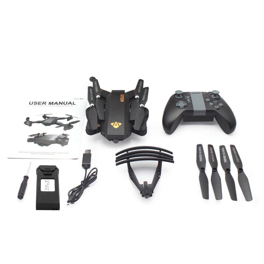 XS809HW 2.4G pliable FPV Selfie Drone RC quadrirotor avec caméra Wifi 0,3mp maintien d'altitude RC quadrirotor hélicoptère Drone modèle