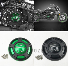 Motorcycle CNC Aluminium Right Side Engine Protective Protect Cover For Kawasaki Vulcan S VN650 2015 2016 2017 for kawasaki z800 2013 14 vn650 vulcan s 2015 2016 motorcycle m20 2 5 oil cap reservoir cup caps engine oil filter cover cap