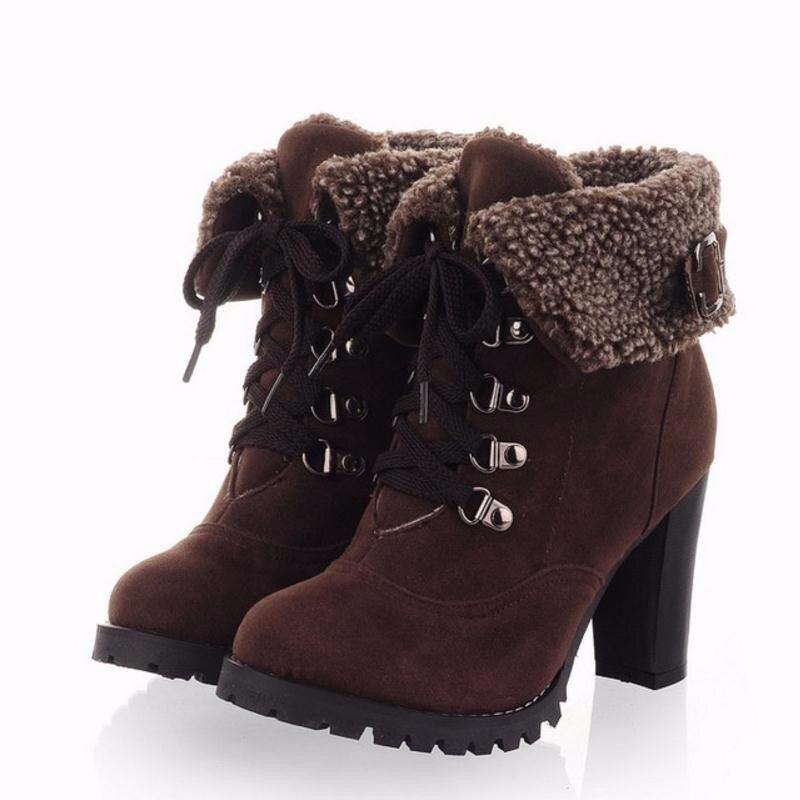 зимние ботинки женские фото на каблуке понять, какой