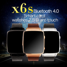New Watch X6S Smart Watch HRM Real Heart rate Bluetooth Genuine Leather Strap Smartwatch For Android IOS Support SIM card GPS