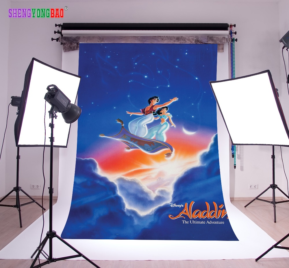 SHENGYONGBAO Art Cloth Custom Backdrops for Photography Comic Cartoon theme Photo Studio Background 80510 51 in Background from Consumer Electronics
