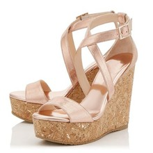 Muffin heel platform wedges sandals cross strap open toe cut out ankle buckle height increase summer woman shoes suit to feet summer platform wedges high heel open toe woman sandals fashion buckle dress shoes woman white blue pink