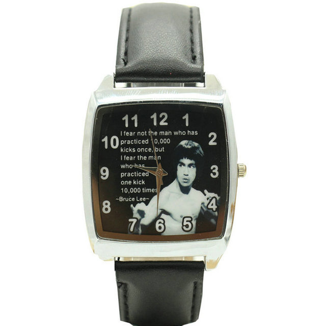 Free Shipping 2017 Bruce Lee Watch black Color Watches Fashion Man Casual Wristw