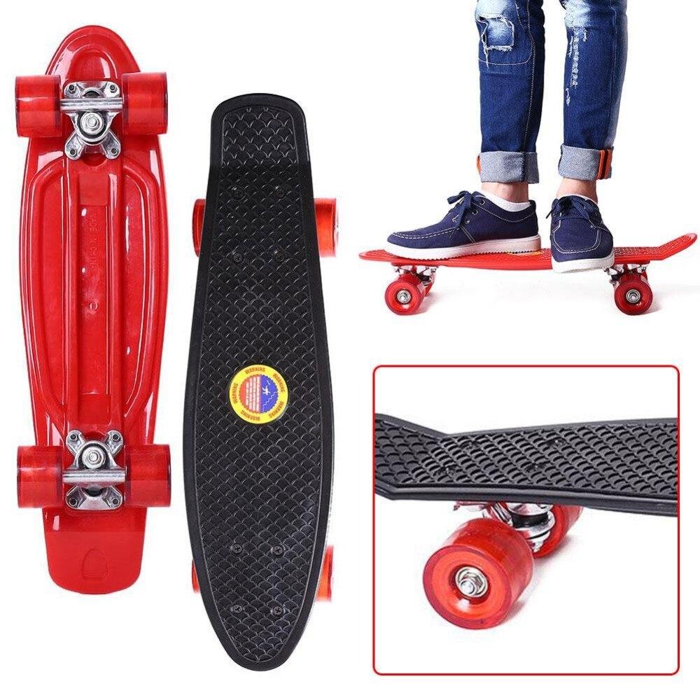 22 Inches Four-wheel Street Long Skate Board Mini Cruiser Skateboard For Adult Children недорго, оригинальная цена