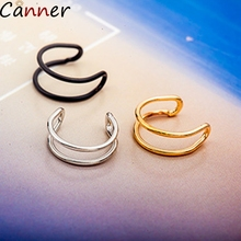 CANNER Ear Cuff Earrings For Women Stainless Steel Earing No Piercing Gold U Shape Clips Jewelry Gifts Brincos F40