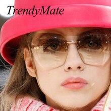 TrendyMate 2017 New Fashion Sunglasses Women Brand Designer High Quality Style Elegant Ladies Sun Glasses Female Sunglasses 602M