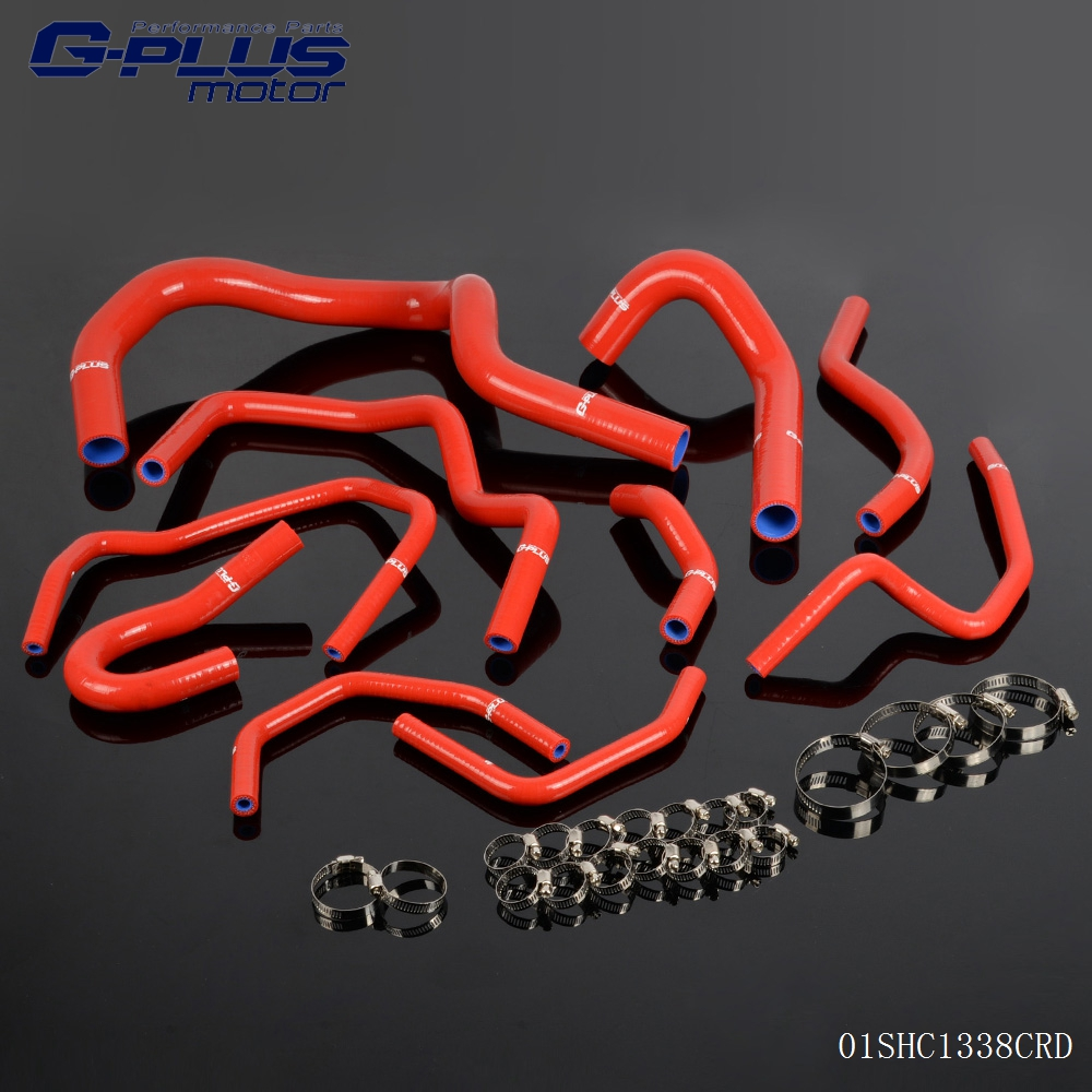 Gplus For HONDA CRV MK1 1998-2001 Silicone Coolant Radiator Hose Pipe Kit 10PCS