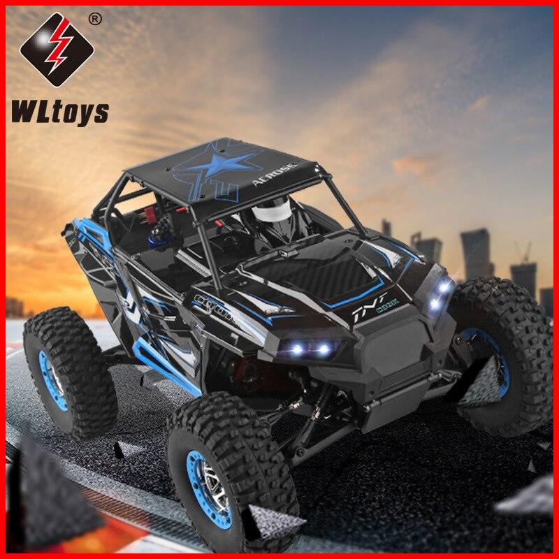Nouveauté WLtoys 10428 2.4G 1:10 échelle télécommande électrique sauvage piste guerrier voiture véhicule avec émetteur Nice enfants jouet