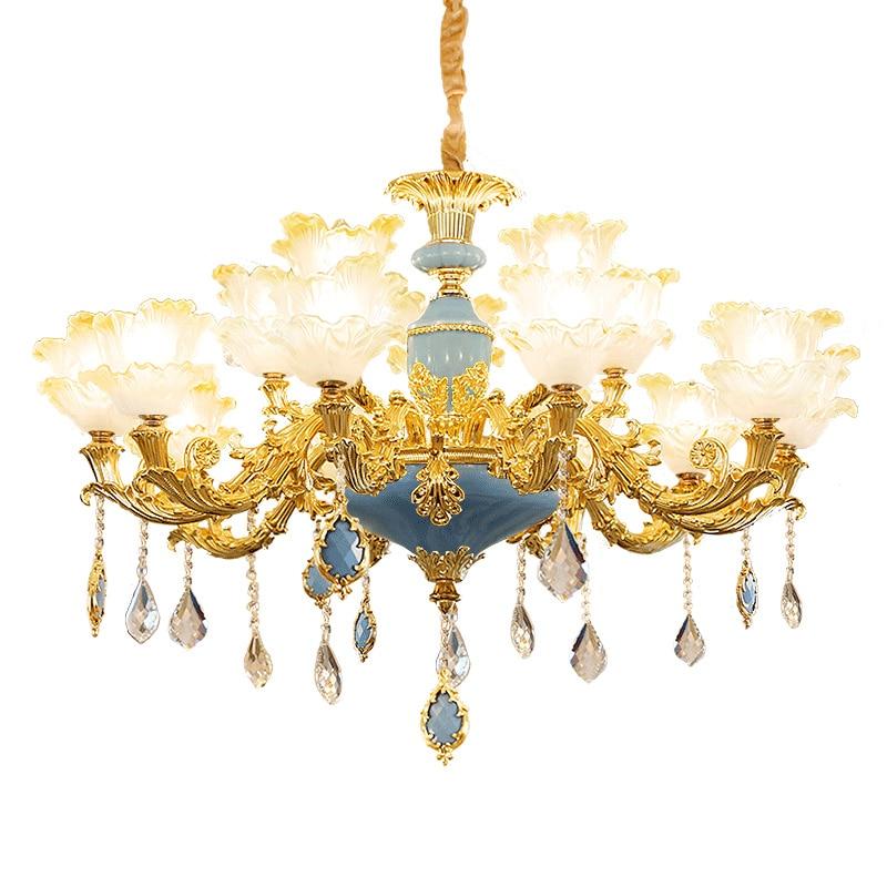 Color Crystal Chandelier Modern Living Room Lamps