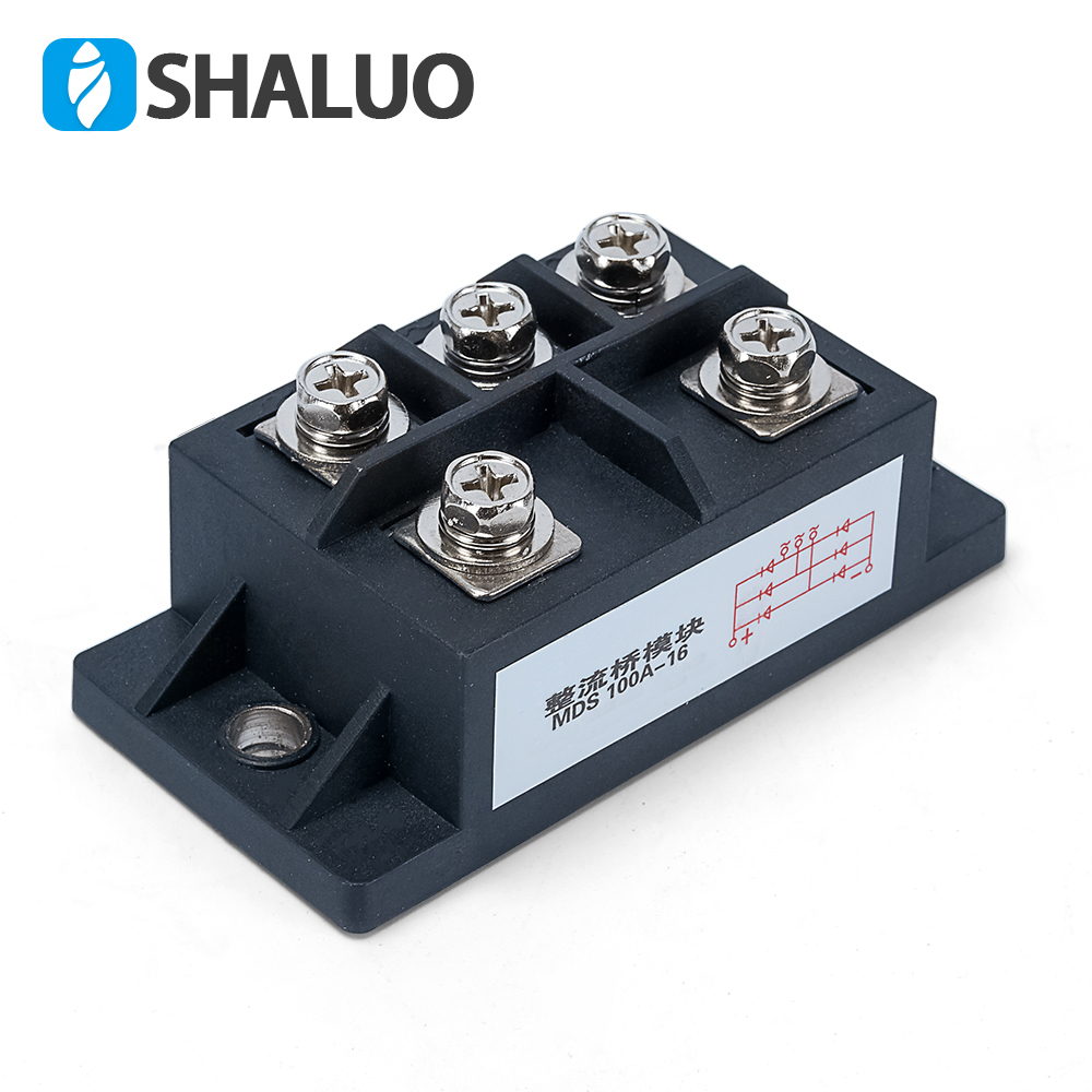 все цены на MDS100A AMP 1600V three phase diode rectifier bridge 100A rectifier module control diode rectifiers function for generator онлайн