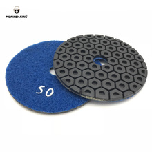 3 Pieces/Lot  beehive hive-shaped Diamond Resin Wet Polishing Pad 4 inch 100mm Wet Granite Stone Concrete Marble floor недорого