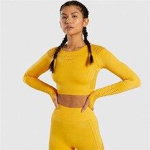 Women Seamless 2 Piece Set Sport Suit Gym Workout Long Sleeve Sportswear Fitness Crop Top And Scrunch Butt Leggings Yoga Set lace panel scrunch long sleeve top