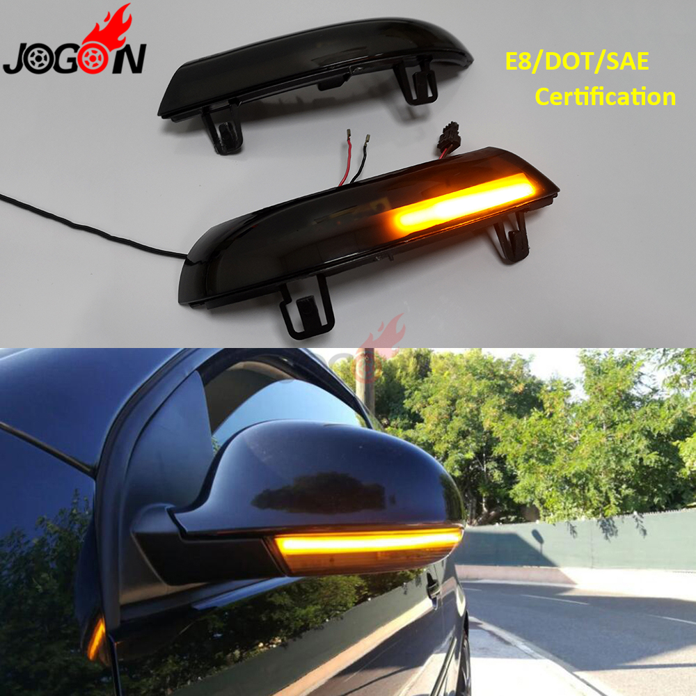 Black For VW GOLF 5 GTI V MK5 Jetta Passat B5.5 B6 Sharan Superb EOS Dynamic LED Turn Signal Light Side Wing Mirror Indicator