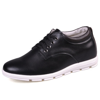 "Promotion Cheap Price Casual Men's Calf Leather Height Increasing Elevator Shoes with Hidden Heels Get Taller 2.16""/5CM"