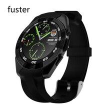 Fuster 380 mah capacidad de la batería g5 bluetooth smart watch con monitor de ritmo cardíaco del deporte redondo pantalla hd smartwatch impermeable