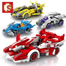 Senbao building blocks car mobilization series racing happy children's toys small particles high compatible assembly blocks ban bao small particles educational building blocks toys assembled licensed car i3 is x 5 series gt models back to the car