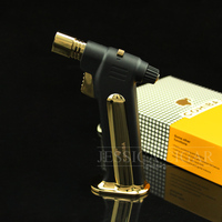 Cigar Gadgets COHIBA Windproof Refillable Butane Torch Flame Jet Fire Table Cigarette Cigar Lighter W Gift