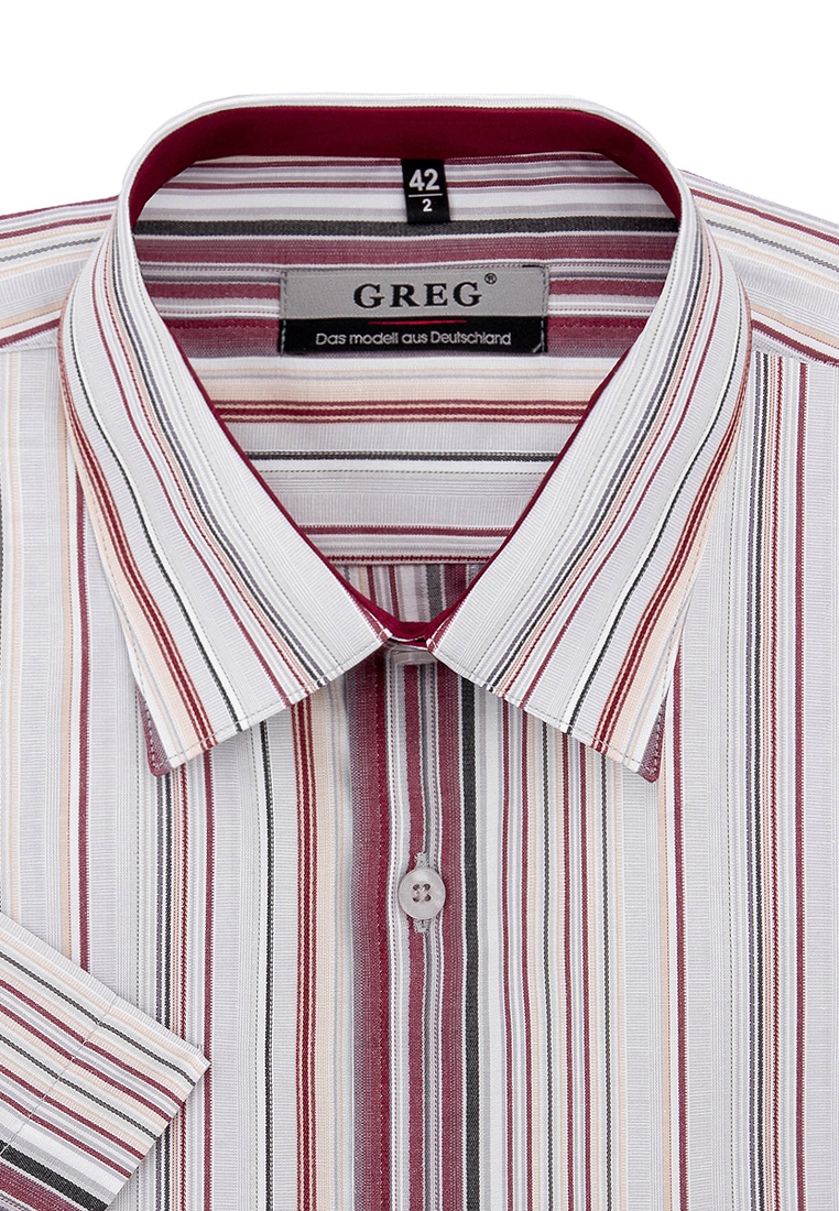 Shirt men's short sleeve GREG Gb361/309/61/Z/1 Gray