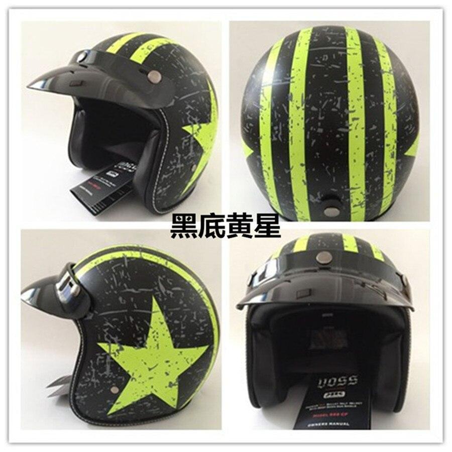 Motorcycle helmet capacetes Open face half motocross helmet Vintage Halley Helmet Classic Motorcycle Jet Pilot Helmet in Helmets from Automobiles Motorcycles