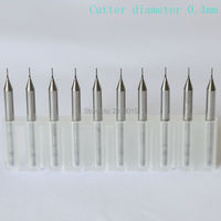 10PCS0 4mm Import Tungsten Steel Cutter Carved CNC Machine Tools PCB Board Cutter Tungsten Steel Alloy
