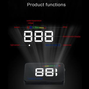 Image 2 - GEYIREN 2018 A500 HUD Car Overspeed Alarm Water Temperature Alarm OBDII or EU OBD interface Reflective Film Car styling