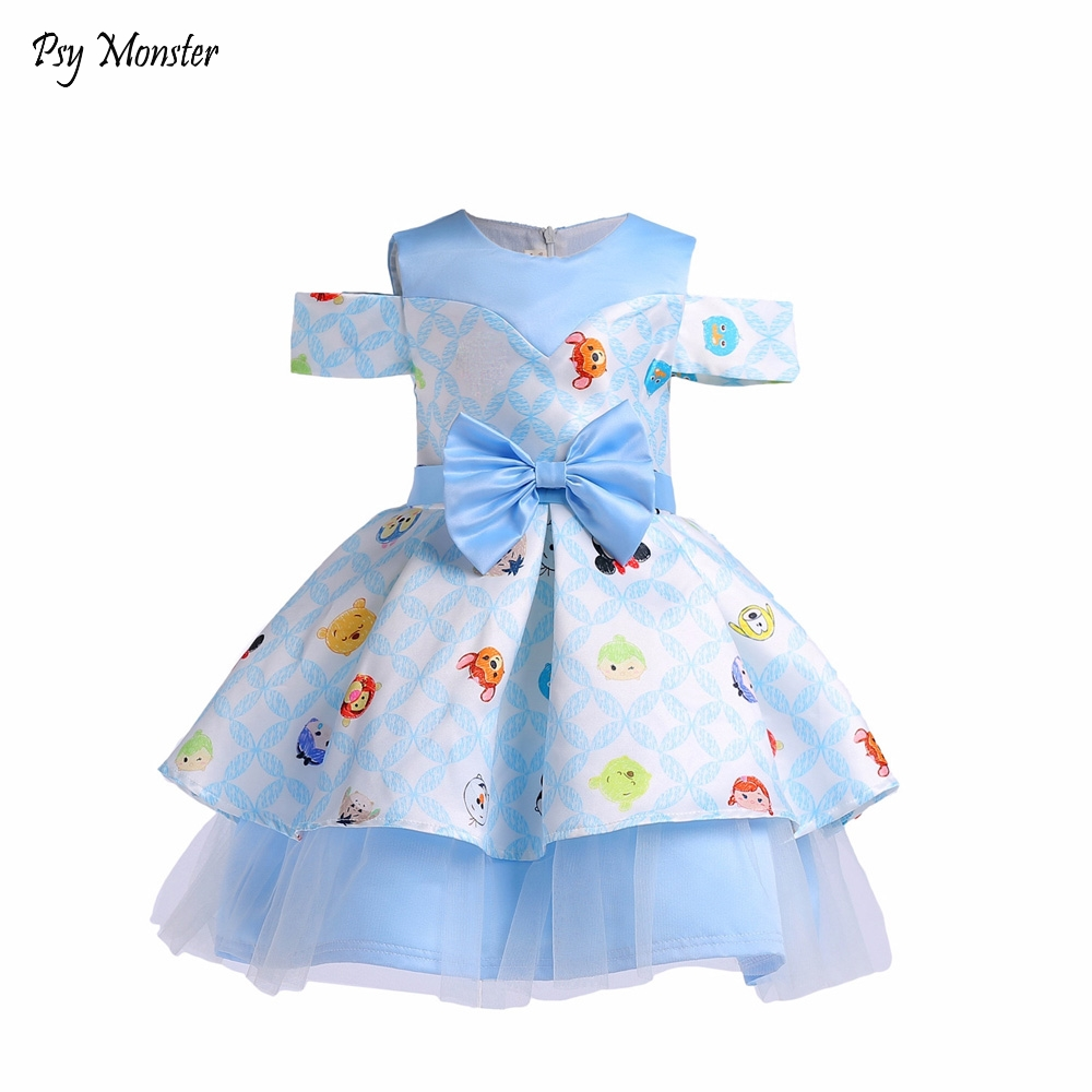 Princess Girls Dress Flower Birthday Wedding Party Baby Dresses Fancy Candy Cupcake Children Frocks for 3-10 Years Girl D74