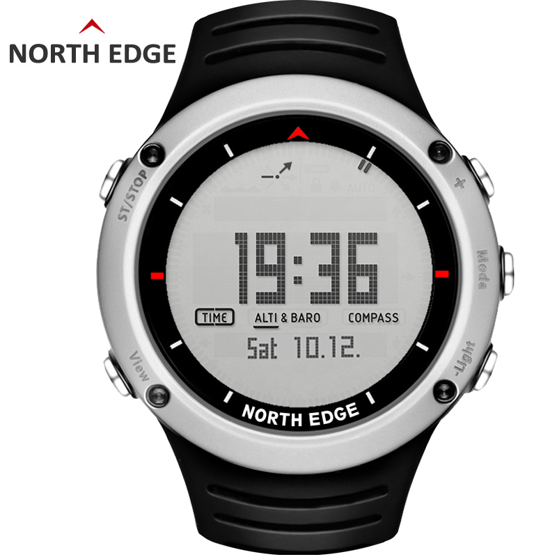 NORTH EDGE Men's sport Digital watch Hours Running Swimming sports watches Altimeter Barometer Compass Thermometer Weather men digital man sport watch waterproof colorful sports watches hours running swimming altimeter barometer compass weather north edge