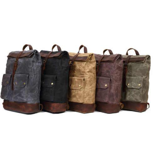 Wo мужские фиолетовые/черные/серые студенческие брезентовые школьные рюкзаки ArmyGreen рюкзак мужской большой емкости хаки рюкзак для путешествий мужской