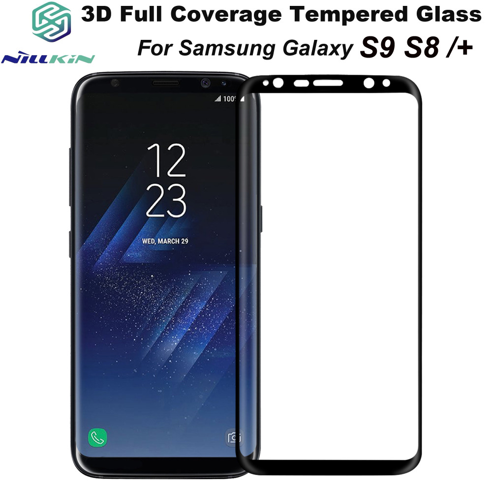 For Samsung Galaxy S9 S 9 Plus S8 S8+ Nillkin 3D CP+ MAX Anti-Explosion HD Tempered Glass Full Coverage Screen Film Protective